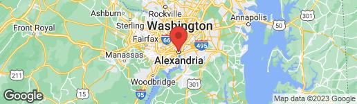 Map of 901-A King Street Lower Level Alexandria, VA 22043