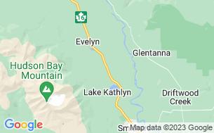 Map of Glacier View RV Park & Cabin Rentals