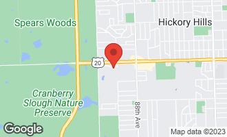 Map of 9029 Del Prado Drive PALOS HILLS, IL 60465