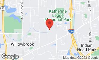 Map of 903 Burr Ridge Club Drive BURR RIDGE, IL 60527