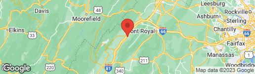 Map of 903 HILLTOP DRIVE WOODSTOCK, VA 22664
