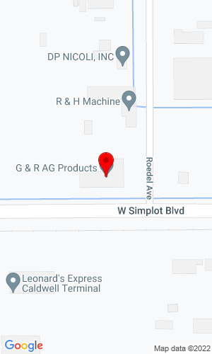 Google Map of G & R Ag Products 905 Simplot Blvd Box 340, Caldwell, ID, 83606