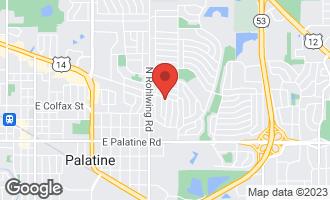 Map of 907 East Baldwin Road PALATINE, IL 60074
