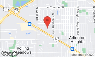Map of 907 North Princeton Avenue ARLINGTON HEIGHTS, IL 60004