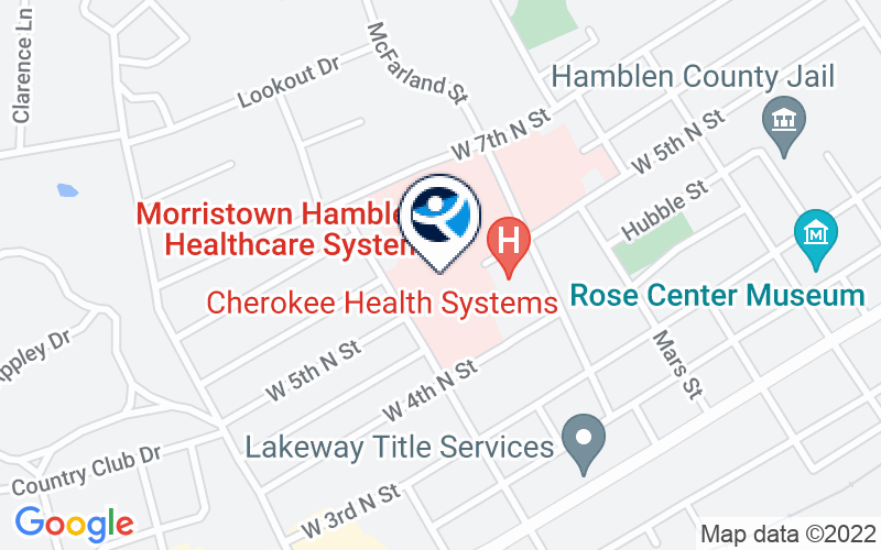 Morristown Hamblen Healthcare - The Center for Behavioral Health Location and Directions