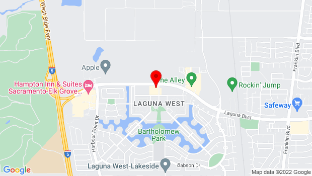 Google Map of 9080 Laguna Main St., Ste 1A, Elk Grove, CA 95758