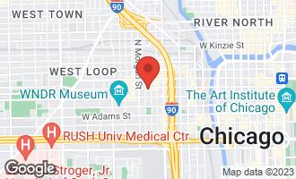 Map of 909 West Washington Boulevard #912 CHICAGO, IL 60607