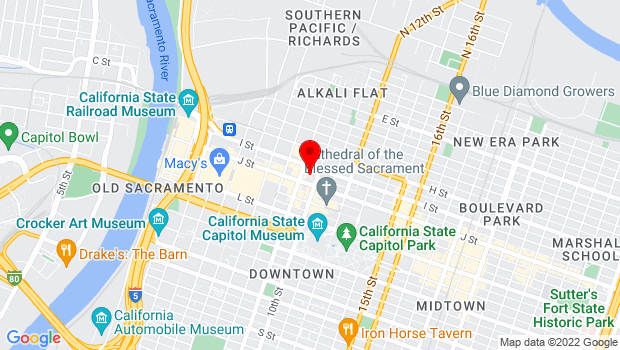 Google Map of 910 I Street, Sacramento, CA 95814
