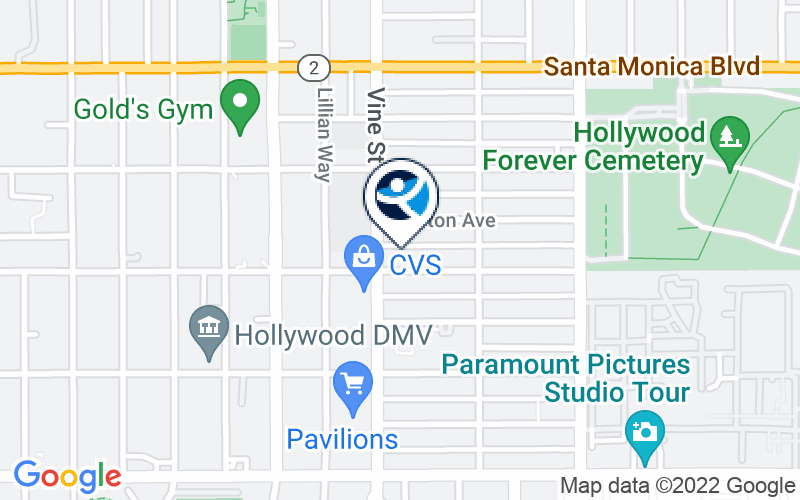 UCLA Vine Street Clinic - UVSC Location and Directions