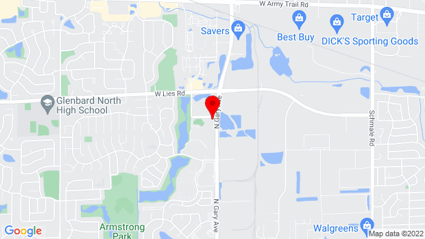 Google Map of 910 N. Gary Avenue, Carol Stream, IL 60188