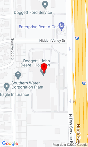 Google Map of Doggett Heavy Machinery Services 9111 North Freeway, Houston, TX, 77037