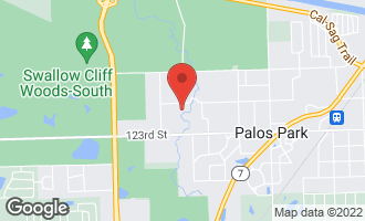 Map of 9111 West 121st Street PALOS PARK, IL 60464