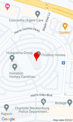 Google Map of ASCENDUM 9115 Harris Corners Parkway, Suite 450, Charlotte, NC, 28269