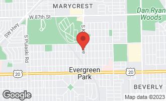 Map of 9148 South Kedzie Avenue EVERGREEN PARK, IL 60805