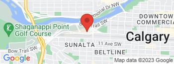 Google Map of 915+15th+Street+SW%2CCalgary%2CAlberta+T3C+1E5