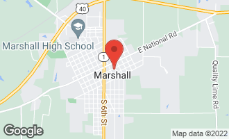 Map of 915 Locust Street Marshall, IL 62441