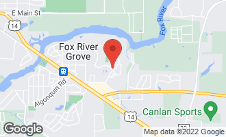 Map of 916 Norge Parkway FOX RIVER GROVE, IL 60021
