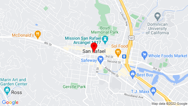 Google Map of 917 C Street, San Rafael, CA 94901