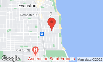 Map of 917 Forest Avenue 1S EVANSTON, IL 60202