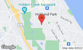 Map of 918 Rollingwood Road Highland Park, IL 60035