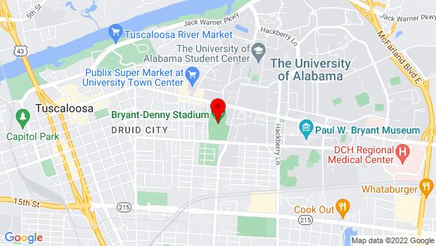 Google Map of 920 Paul W Bryant Dr, Tuscaloosa, AL 35401
