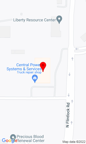 Google Map of Central Power Systems & Services 9200 Liberty Drive, Pleasant Valley, MO, 64068