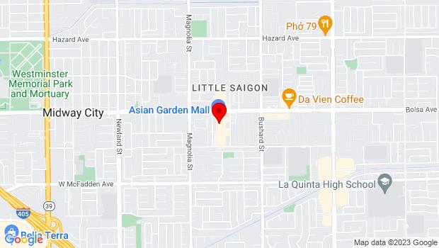 Google Map of 9200 Bolsa Ave., Westminster, CA 92683