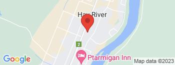 Google Map of 922+Mackenzie+Hwy%2CHay+River%2CNorthwest+Territory+X0E+0R8