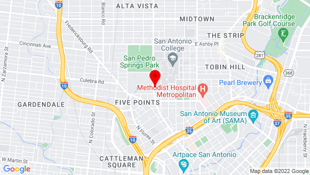Google Map of 922 San Pedro, San Antonio, TX 78212