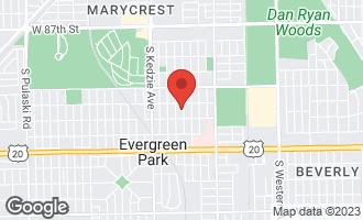 Map of 9226 South Sacramento Avenue EVERGREEN PARK, IL 60805