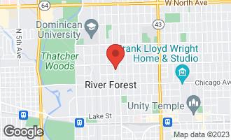 Map of 923 Ashland Avenue RIVER FOREST, IL 60305