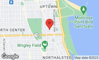 Map of 923 West Belle Plaine Avenue #1 CHICAGO, IL 60613