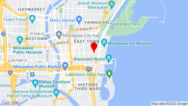 Google Map of 929 E. Wisconsin Avenue, Milwaukee, WI 53202