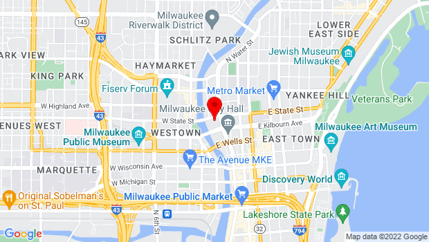 Google Map of 929 N Water Street, Milwaukee, WI 53202