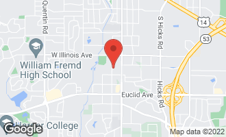 Map of 929 South Brockway Street PALATINE, IL 60067