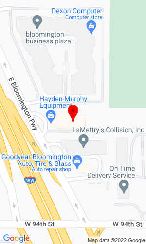 Google Map of Hayden-Murphy Equipment Company 9301 E Bloomington Freeway, Minneapolis, MN, 55420