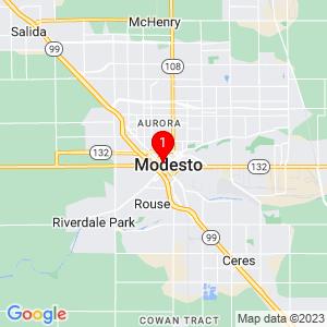 Google Map of 931 10th St, Modesto, CA 95354