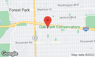 Map of 931 South Kenilworth Avenue OAK PARK, IL 60304