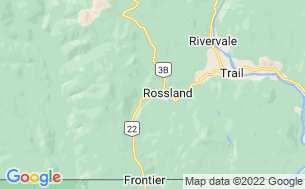 Map of Rossland Lions Campground