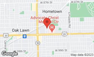 Map of 9320 South Kolmar Avenue OAK LAWN, IL 60453