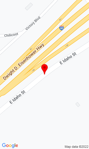 Google Map of Liebherr Mining Equipment 9326 E Idaho Street, Elko, NV, 89801