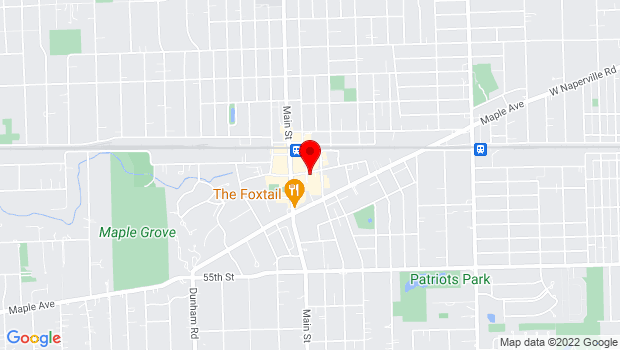 Google Map of 933A Curtiss Street, Downers Grove, IL 60515