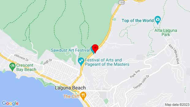Google Map of 935 Laguna Canyon Road, Laguna Beach, CA 92651