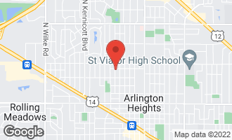 Map of 935 North Mitchell Avenue ARLINGTON HEIGHTS, IL 60004