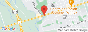Google Map of 939+Dundas+Street+West%2CWhitby%2COntario+L1N+2N8