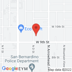 Location of San Bernardino Recovery Center
