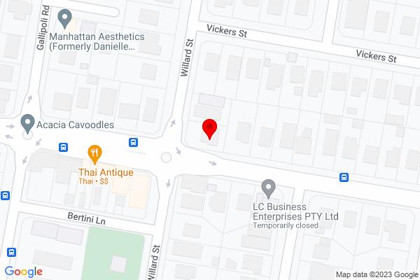 Google Map of 94 Willard St, Carina Heights QLD 4152