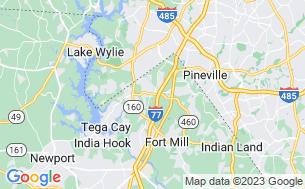 Map of Charlotte/Fort Mill KOA