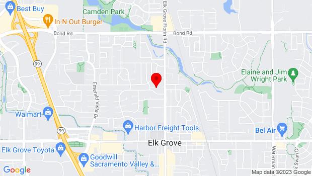 Google Map of 9408 Elk Grove-Florin Rd., Elk Grove, CA 95758
