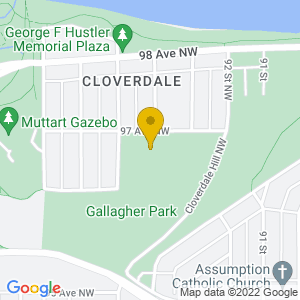 Map to Gallagher Park provided by Google